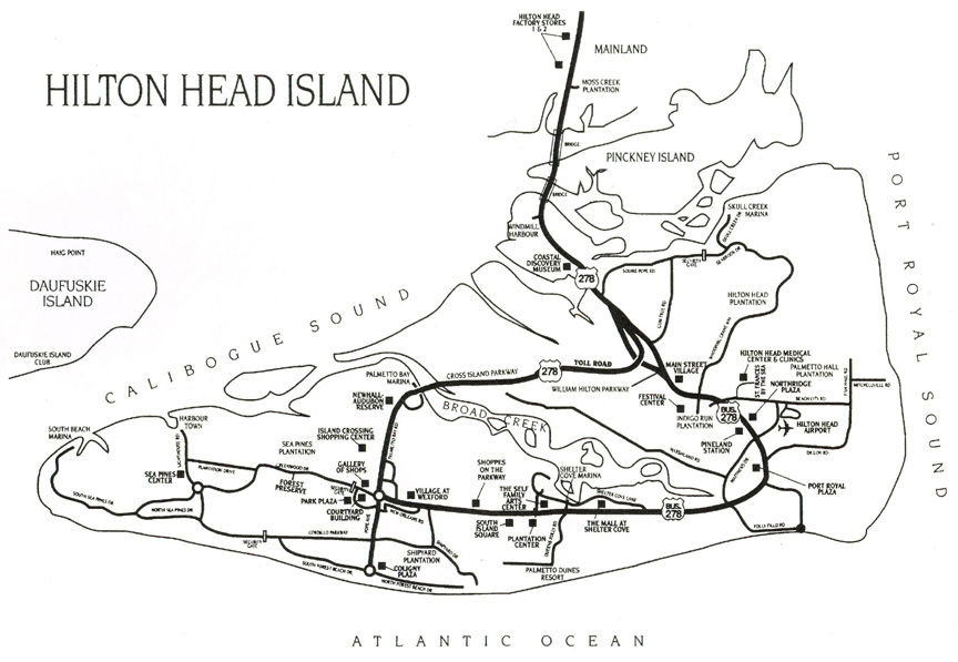 Maps And Directions Trident Villa Rentals Hilton Head Island - Palmetto dunes resort map
